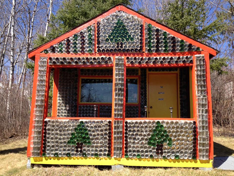 Glass Bottle House in Kenora